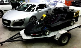 100HP GO-CART wrapped in carbon fibre | Sydney