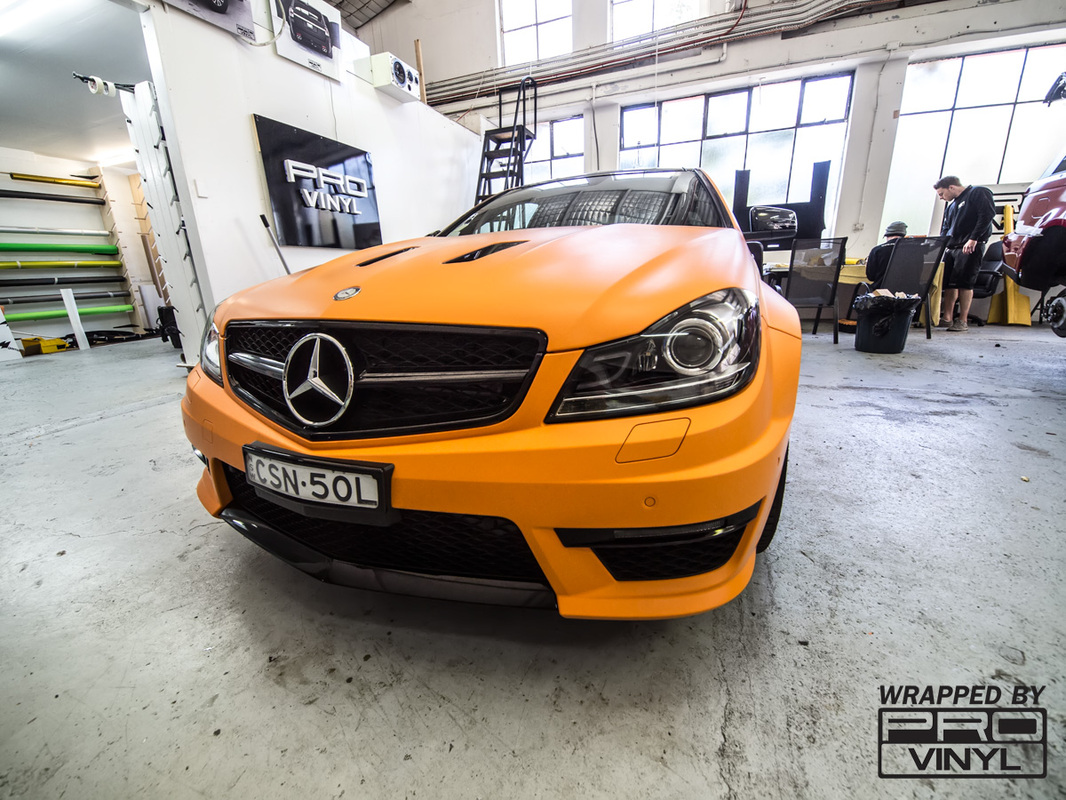 C63 AMG Full wrap, Tinting, Wheels respray