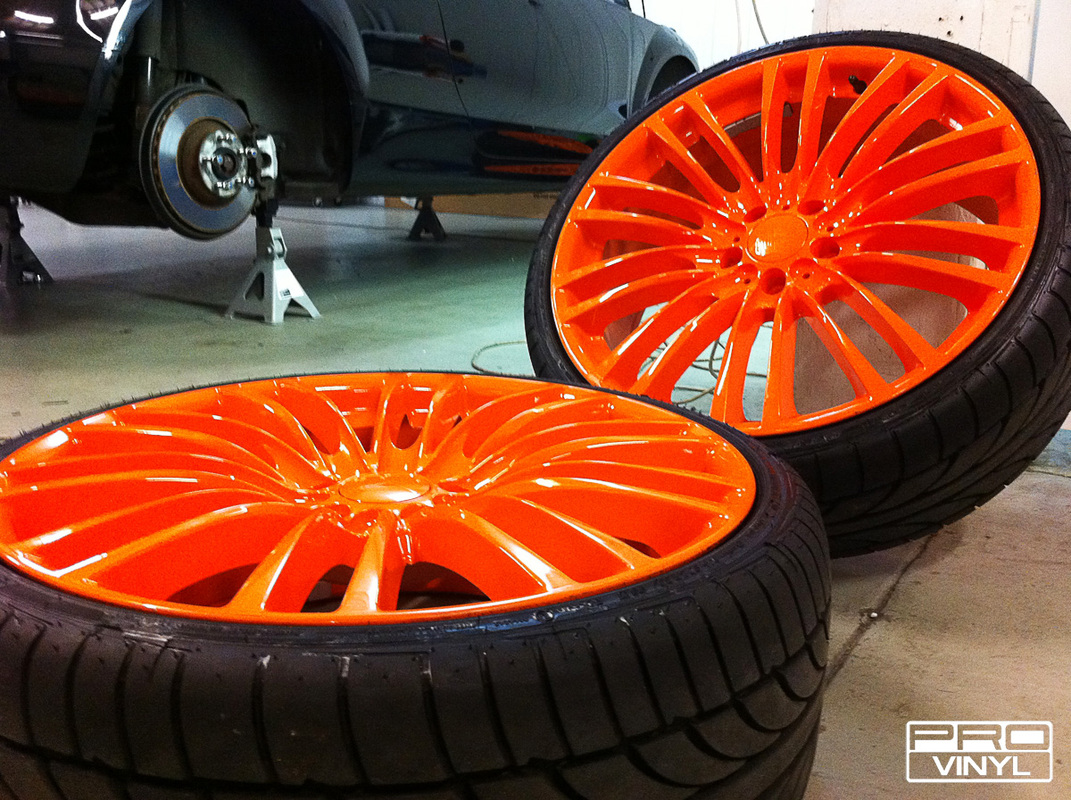 Orange wheels
