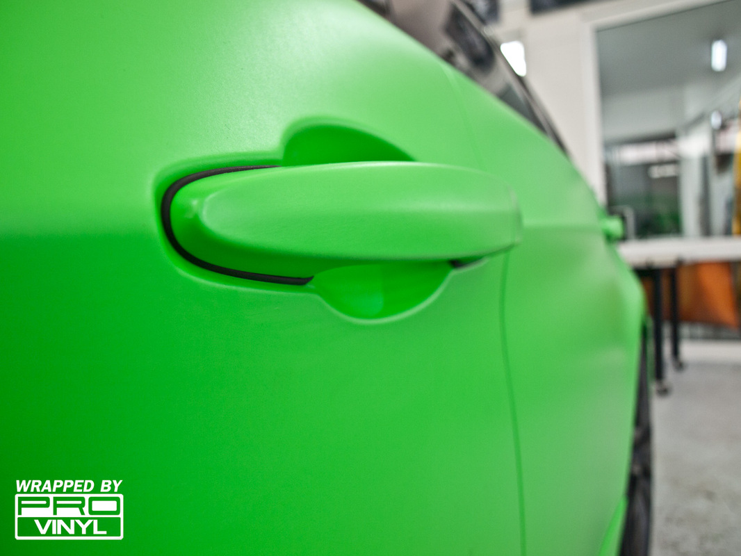 Green wrap for BMW
