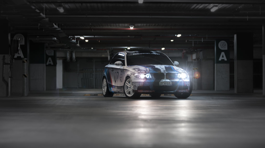 BMW 1 135M vinyl wrap, racing vinyl wrap graphics