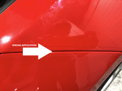 Paint protection film bad installation