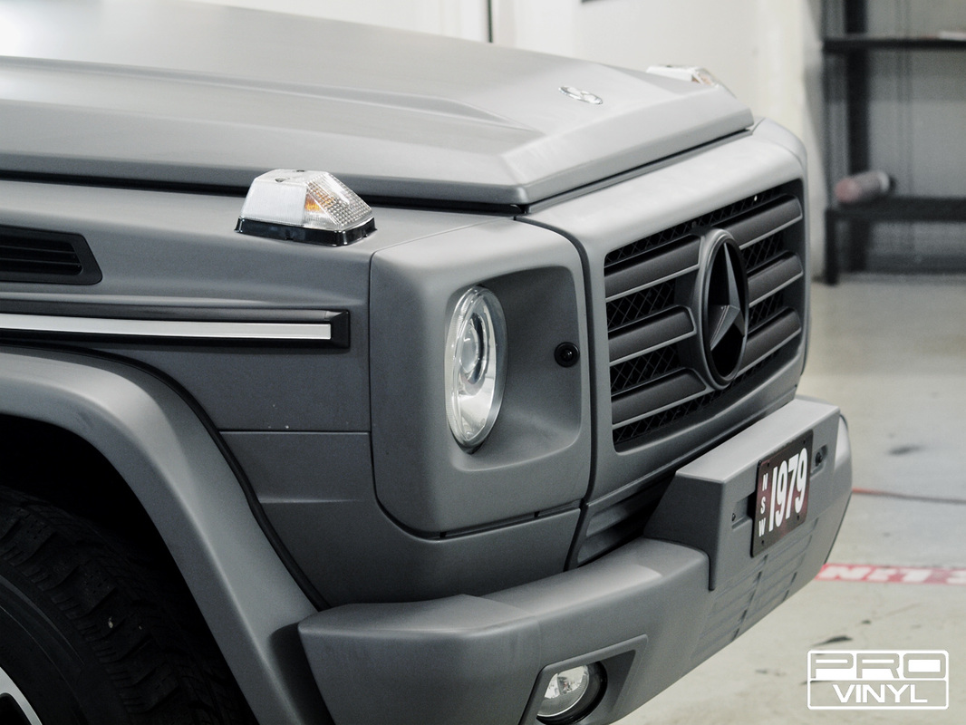 A standard full wrap in combat grey for Mercedes G CLASS AMG