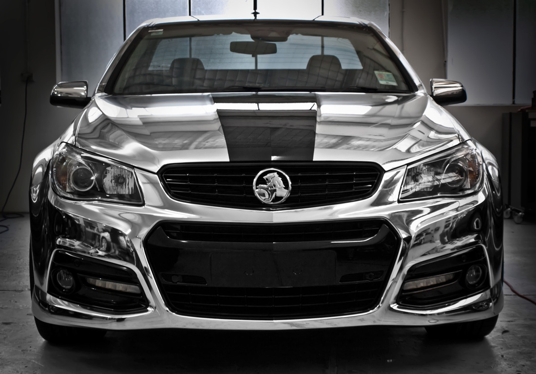 A special half chrome wrapped VF Commodore | Sydney