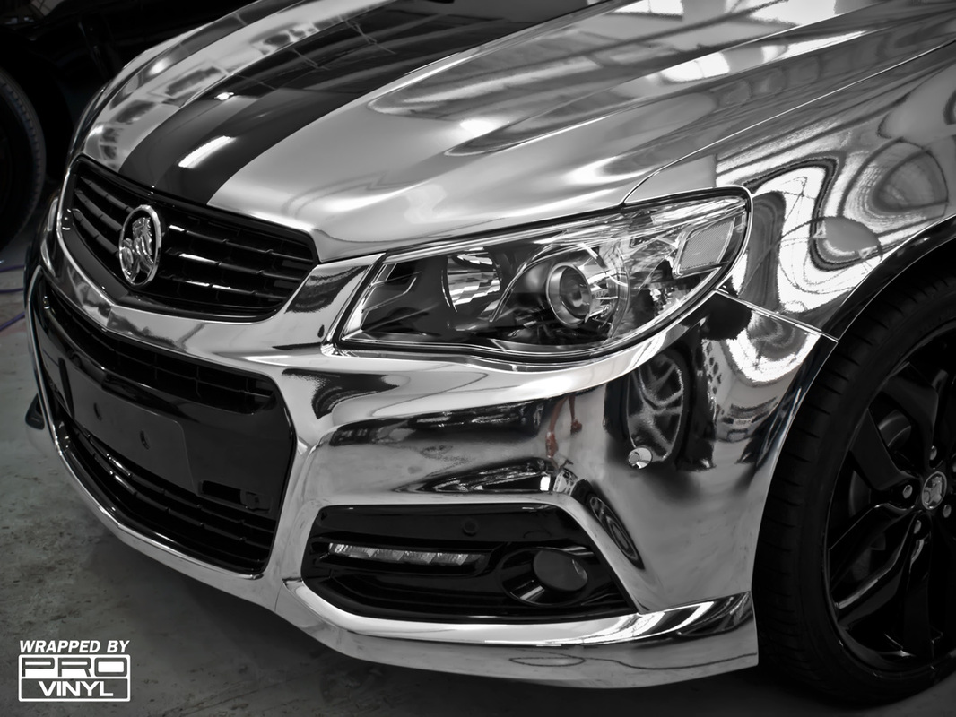 A special half chrome wrapped VF Commodore