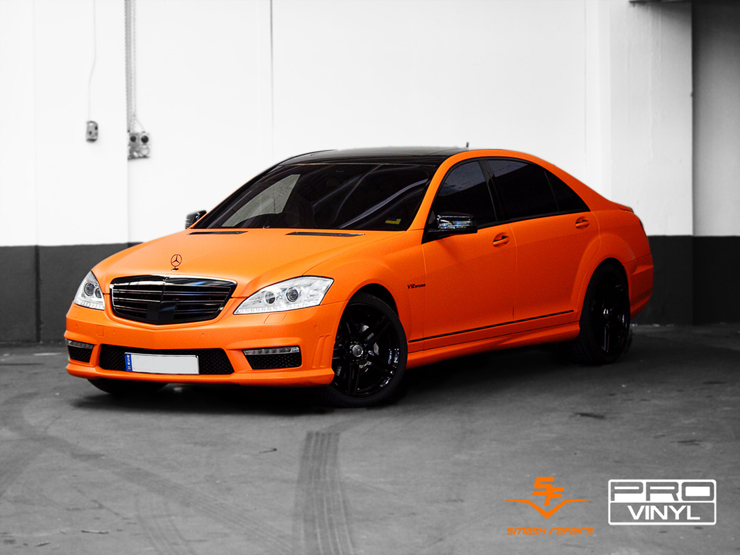 PRO vinyl team have wrapped the car in matte orange.