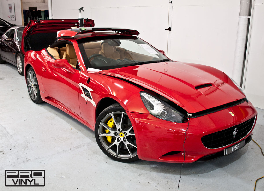 The Ferrari California  vinyl wrap