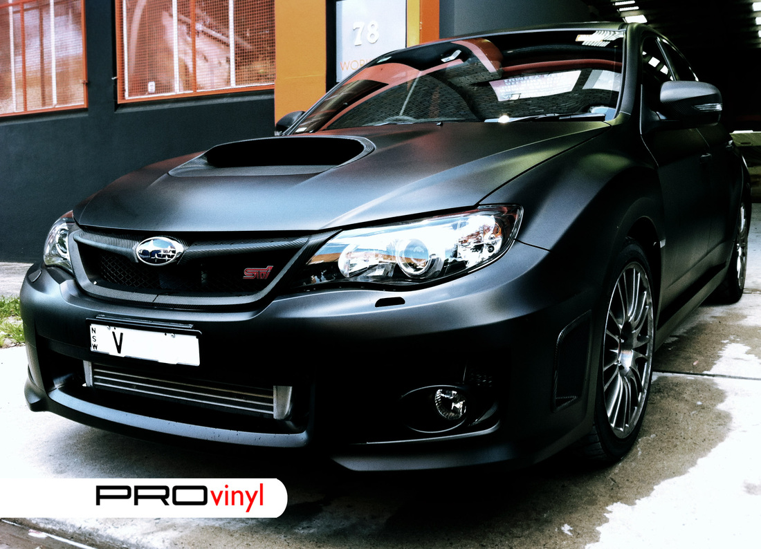 WRX STI wrapped in carbon fibre | Sydney