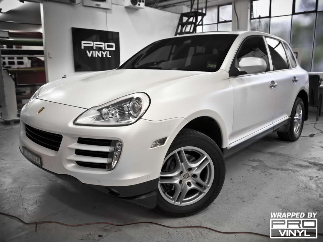 Full satin pearl white wrap for Porsche Cayenne | Sydney