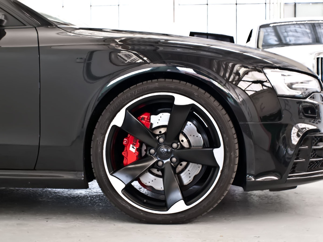 rs5 partial rims respray Red calipers