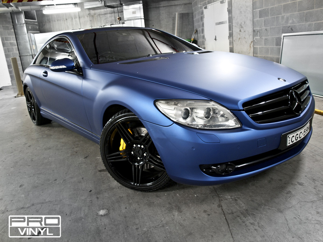 A matte metallic blue wrap | Sydney