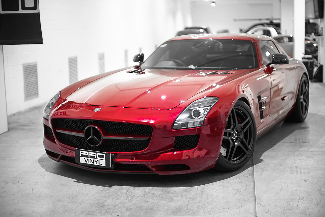 Mercedes SLS In clear vinyl protection