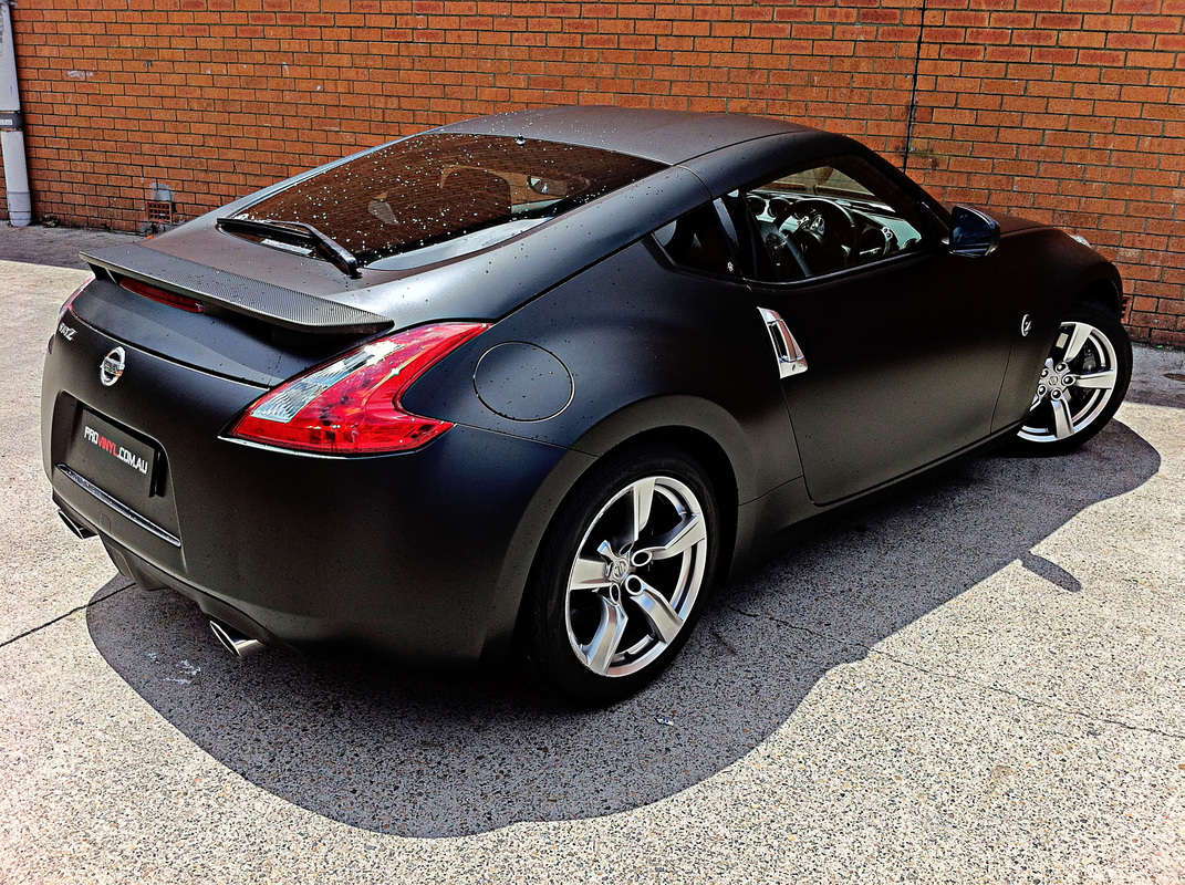 NISSAN 370Z fully wrapped in matt black vinyl | Sydney