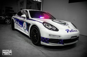 Porsche Police Vehicle NSW Vinyl car wraps