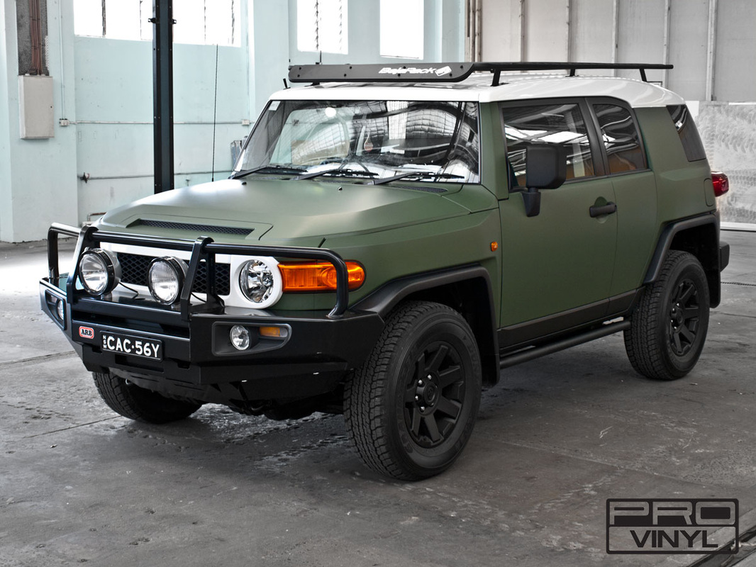 Matte military green wrap for Toyota FJ Cruiser | Sydney