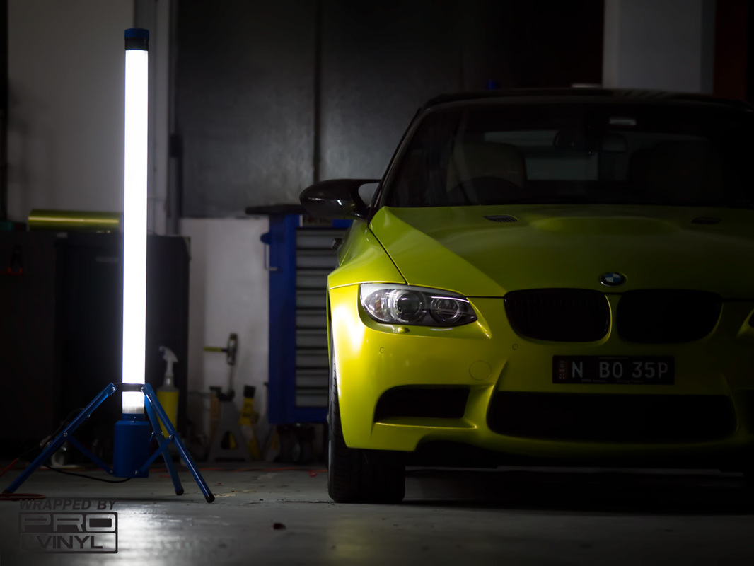 BMW M3 Electric Lime Vinyl Wrap
