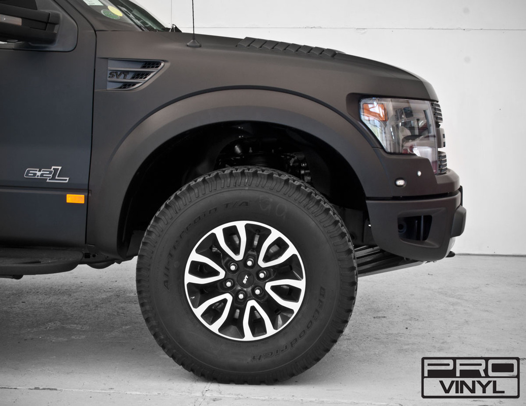 Matte black wrap for Ford Raptor