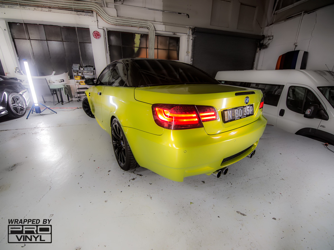BMW M3 Electric Lime Vinyl Wrap | Sydney