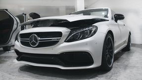 Clear car bra Mercedes C